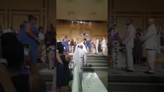Praise break at Tiara Dandy wedding