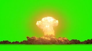 Nuclear Bomb Explosion Green Screen Effects || 4K Video with Sound || Creator's Market.