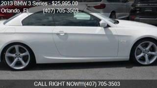 2013 BMW 3 Series 335i 2dr Convertible for sale in Orlando,