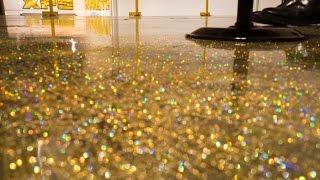 DIY Metallic Epoxy Floor Application (Gold Glitter)