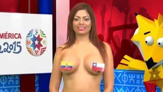 çırılçıplak haber sunan kız La teta teresa predice que ganará chile Desnudando la