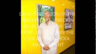 Dr  M S  Idiagbon of the University Ilorin Sex Scandal