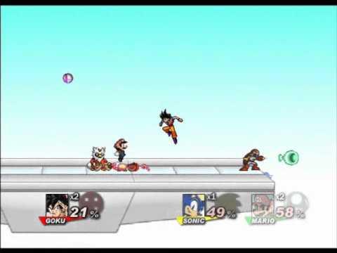 Goku vs Naruto vs Mario vs Sonic SSF2
