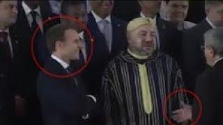 شاهد اللقطة التي اضحكت الرئيس الفرنسي بعد تقدم الوزير الأول الجزائري للسلام على الملك محمد السادس!!
