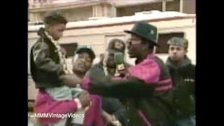 Rakim on Set with His Son from
