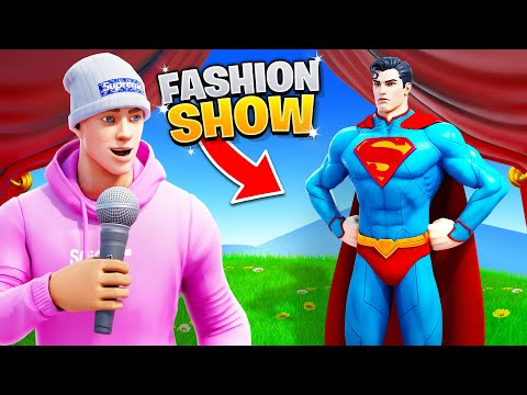 I joined a Fortnite Fashion Show as SUPERMAN