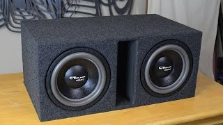 "CT Sounds How To | Build a Ported Subwoofer Box for 2 12"" Subs"