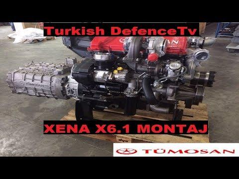 Tümosan İlk Milli Motor X6'nın Montajı / X6.1 Xena Turkish Motor 6 Power Cylinder