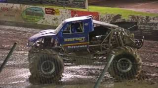 Monster Truck Backflip!! Monster Truck Throwdown 2016 Berlin Raceway