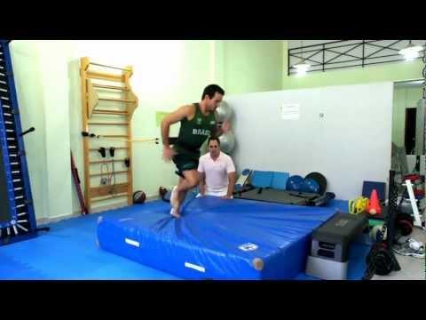 Fisioterapia Esportiva Reabilitação de Joelho Atleta Olimpico Fisioterapeuta Sergio Nery
