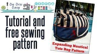 Sew an expanding nautical tote bag Pt 1