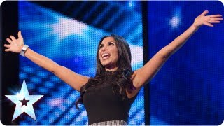 Francine Lewis with her many impressions - Week 2 Auditions | Britain