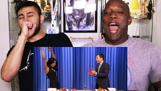 PRIYANKA & JIMMY FALLON wing-eating contest reaction w/Syntell!