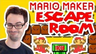 Mario Maker - Escape The House Puzzles (w/ Microscope Science)