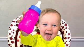 Little Baby as Doll Dasha | Stefy doesn't like Toy Bottle