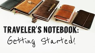 (Midori) Traveler's Notebook Journey- Getting started!
