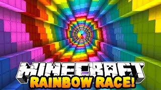 Minecraft 1v1 RAINBOW PARKOUR RACE! w/PrestonPlayz & Kenny