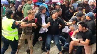 Protesters disrupt Duterte