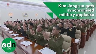 Kim Jong-un receives synchronised applause at military council