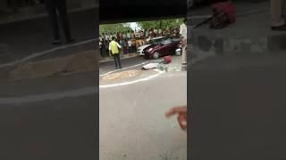 Live accident in badarpur New Delhi India