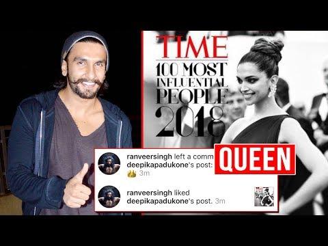 Ranveer Singh's Best REACTION On Deepika Padukone In Time 100 Most Influential List