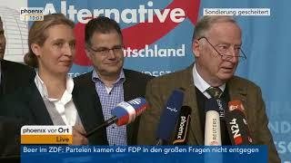 Statement der AfD zum Scheitern der Sondierungsgespräche am 20.11.17