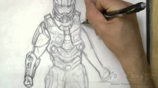 how to draw master chief halo 4