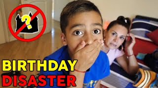 BIRTHDAY DISASTER FOR 8 YEAR OLD *SO SORRY* | The Royalty Family