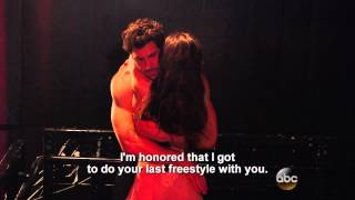 Maks and Meryl's saccharine backstage bits from DWTS, Season 18 Finale