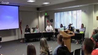 Sesión ordinaria de la Mesa Directiva de Educación del MUSD - 6/12/17