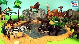 Safari Wild Animals Zoo Adventure Toys For Kids -  Learn Animal Names Video