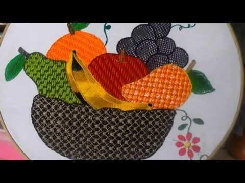 puntada fantasia canasta de frutas