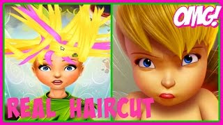 ♡ Disney Fairies- Pixie Hollow Real Haircuts ♡ Tinker Bell Video Game for Girls