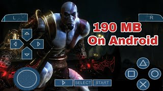 190 MB GOD OF WAR 2 HIGHLY COMPRESSED FOR ANY ANDROID DEVICE    IN HINDI   