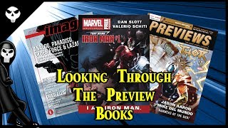 Looking through Comic Preview Books - DC/Marvel/Image/Dark Horse...