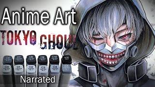 Kaneki ~ Tokyo Ghoul DRAWING (Narrated)