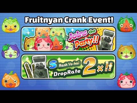 watch Yo-Kai Watch Wibble Wobble - FRUITNYAN EVENT + HUGE Crank-a-Kai Party!