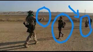 ابو عزرائيل يستقبل الاهالي النازحة من بطش داعش شاهد ماذا فعل بهم