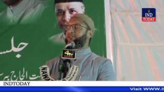 Asaduddin Owaisi uncut latest speech at Jalsa-e-yaad Qaid-e-Millat Bahadurpura Hyderabad