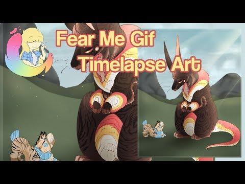 Fear Me Timelapse Art Animation