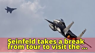 Seinfeld takes a break from tour to visit the Israeli Air Force