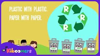 Reduce Reuse Recycle Song for Kids    Earth Day Songs for Children   The Kiboomers