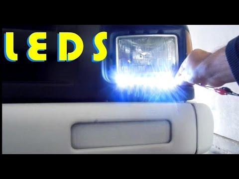 Como instalar luces led blancas frontales en el auto