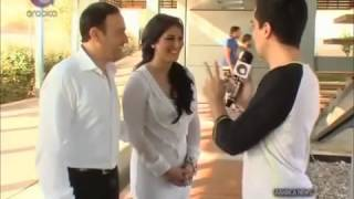 اخبار ارابيكا   لقاء مع النجم صابر الرباعي و زوجته إخلاص اثناء تصوير فيديو كليب كش ملك