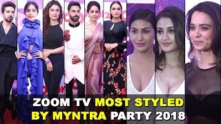 Zoom Tv Most Styled By Myntra Party 2018 | Red Carpet | Huma Qureshi, Adah Sharma, Ankita Lokhande