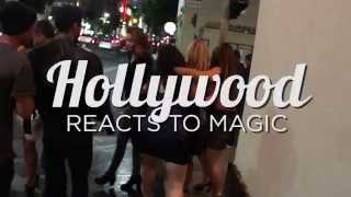 HOLLYWOOD REACTS TO MAGIC!!!