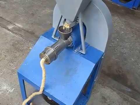 Работа экструдера ЭКЗ-20,