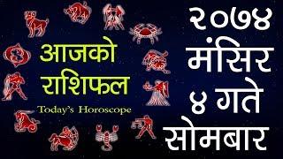 Aajako Rashifal 2074 Mangsir 4, Today's Horoscope, November 20, Monday