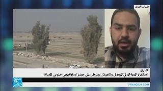 القوات العراقية تسيطر على جسر استراتيجي غربي الموصل