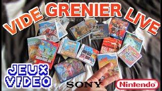 [AMG #40] VIDE GRENIERS LIVE - 17 Jeux vidéo NINTENDO et SONY !!!